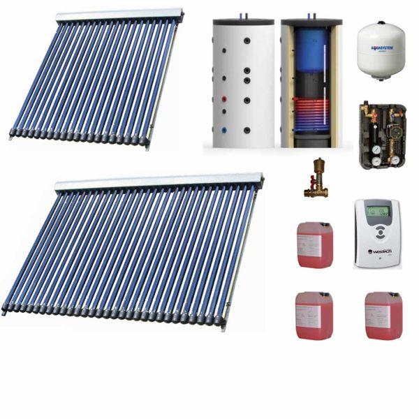 Kit solar pentru producerea apei calde menajere pentru 6 - 8 persoane
