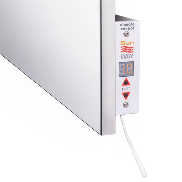 panou radiant cu uscator de prosoape termostat