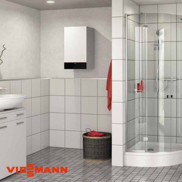 Centrala termica Vitodens 100-W, 25 kW Viessmann, cu boiler Vitocell bivalent de 300 litri