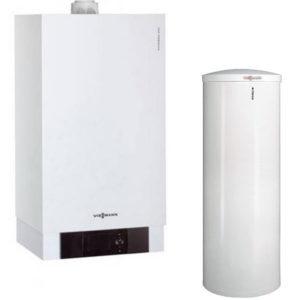 Centrala termica Viessmann Vitodens 200-W, 60 kW, cu boiler Vitocell, monovalent, de 300 litri (B2HAL56)