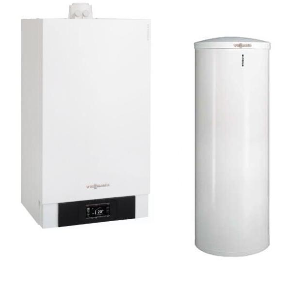 centrala termica viessmann vitodens cu boiler vitocell 300 litri optimclima