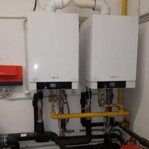 centrala termica viessmann vitodens cu boiler vitocell optim clima