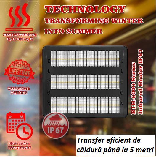 Incalzitor cu infrarosu Elcon RCTH-6000 caracteristici