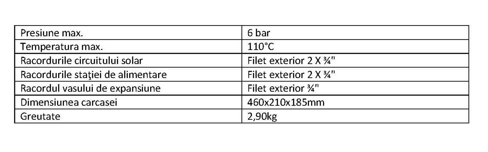 parametri tehnici